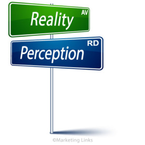 Reality-Perception street sign